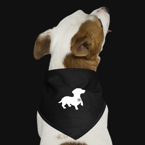 Dachshund silhouette white - Dog Bandana