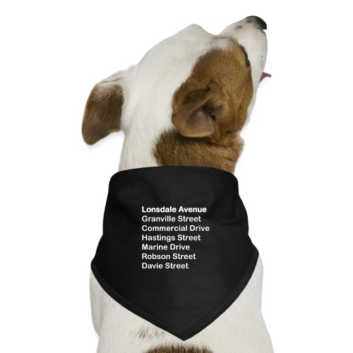 Street Names White Text - Dog Bandana