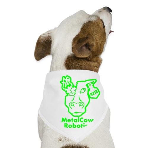 MetalCowLogo GreenOutline - Dog Bandana