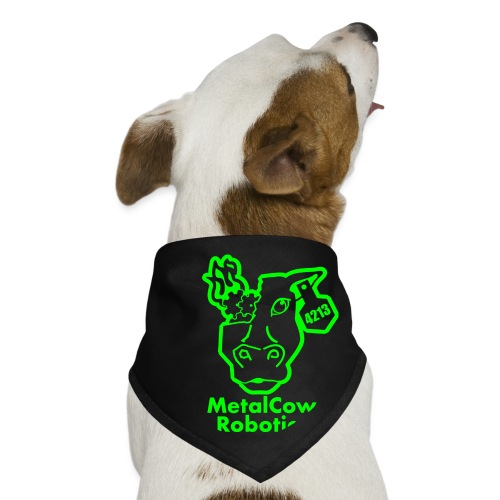 MetalCowLogo GreenOutline - Dog Bandana