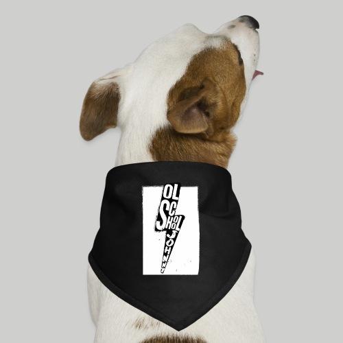 Ol' School Johnny Black and White Lightning Bolt - Dog Bandana