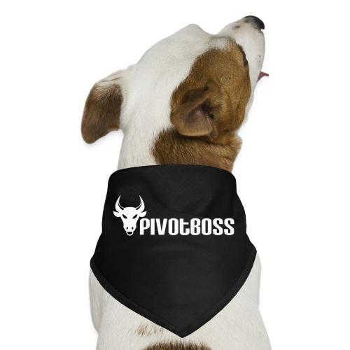 PivotBoss White Logo - Dog Bandana