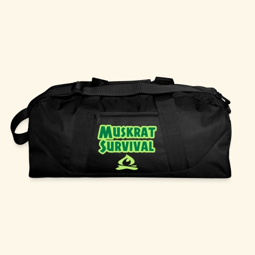 Muskrat Survival text - Duffel Bag