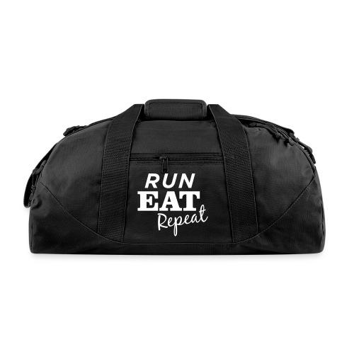 Run Eat Repeat buttons medium - Duffel Bag