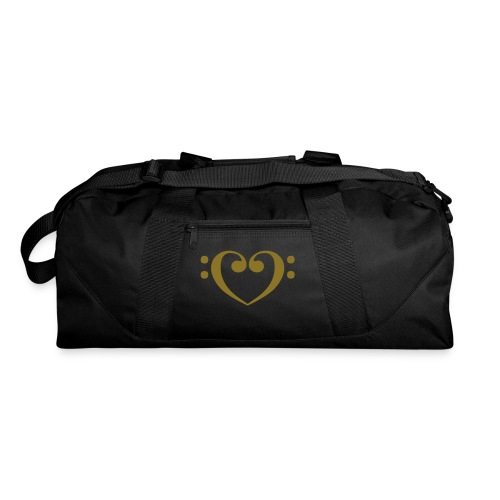 Bass Clef Heart - Duffel Bag