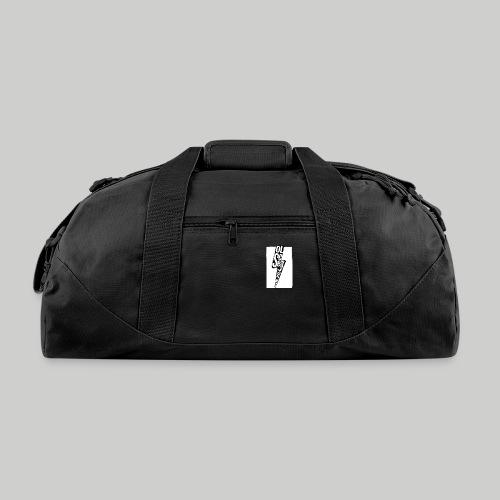 Ol' School Johnny Black and White Lightning Bolt - Duffel Bag