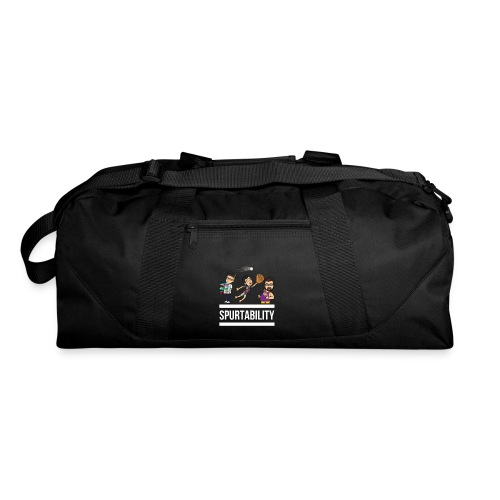Spurtability White Text - Duffel Bag