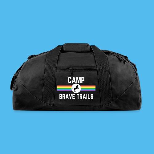 Brave Trails Triangle Rainbow Flag - Duffel Bag