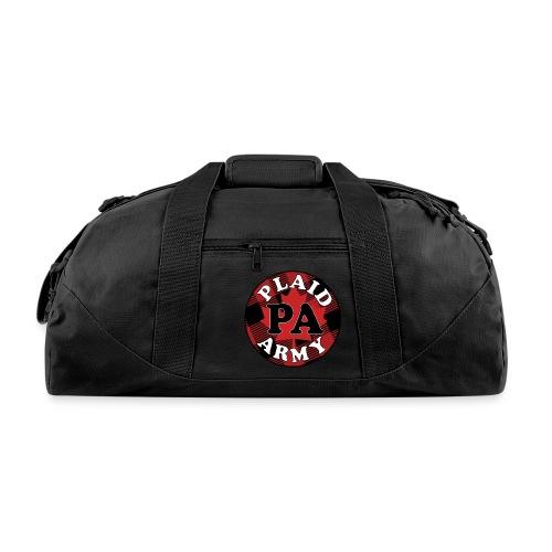plaid army round - Duffel Bag