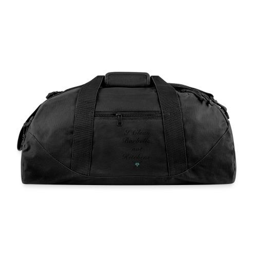 I clean barbells not kitchens (black) - Duffel Bag