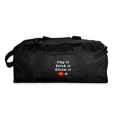 Flip It White Design T-Shirt - Back Flip Inverted - Duffel Bag