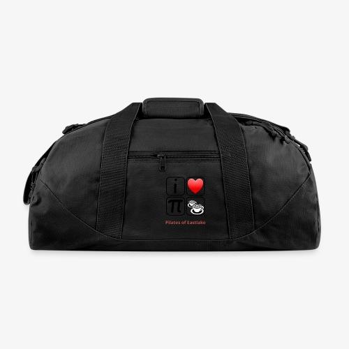 I love Pilates black and white - Duffel Bag
