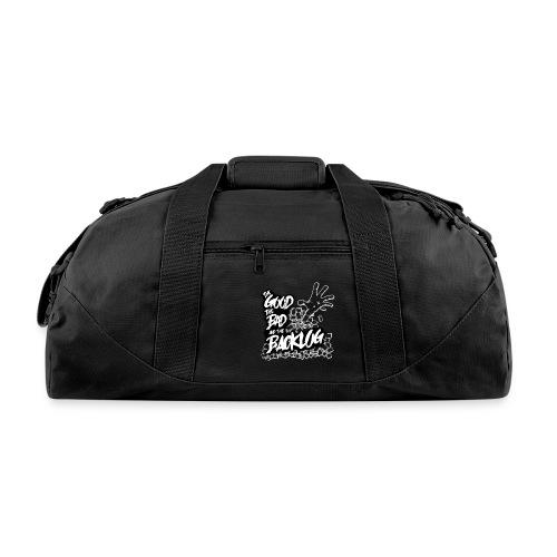 The Good, the Bad, and the Backlog - White logo2 - Duffel Bag