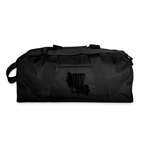 Disc Golf Basket Paint Black Print - Duffel Bag