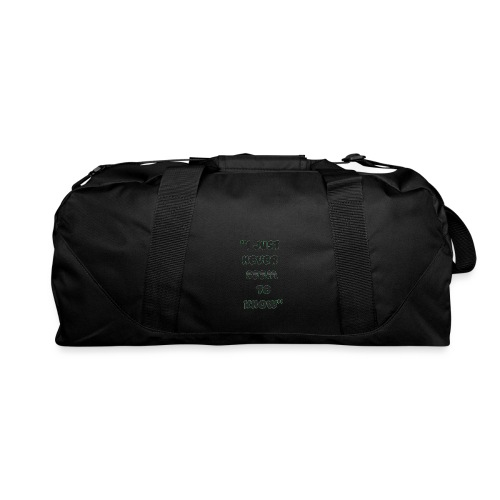know png - Duffel Bag