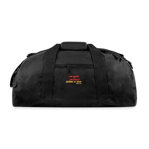 Low ammo & Low health + Logo - Duffel Bag