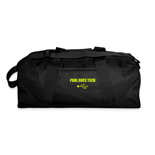 Paul Does Tech Logo Yellow With USB (BS) - Duffel Bag