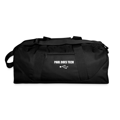 Paul Does Tech White Logo With USB - Duffel Bag