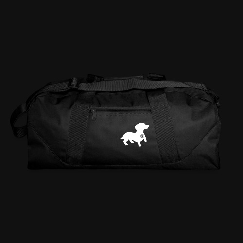 Dachshund silhouette white - Duffel Bag