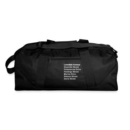 Street Names White Text - Duffel Bag