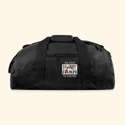 Island Hobby Farm White Logo - Duffel Bag