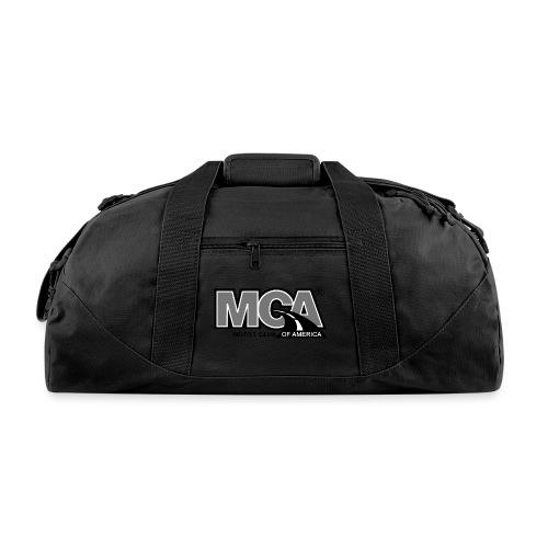 MCA Logo WBG Transparent BLACK WHITE TITLEfw fw pn - Duffel Bag