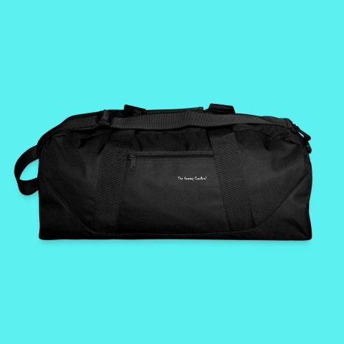 white logo text - Duffel Bag