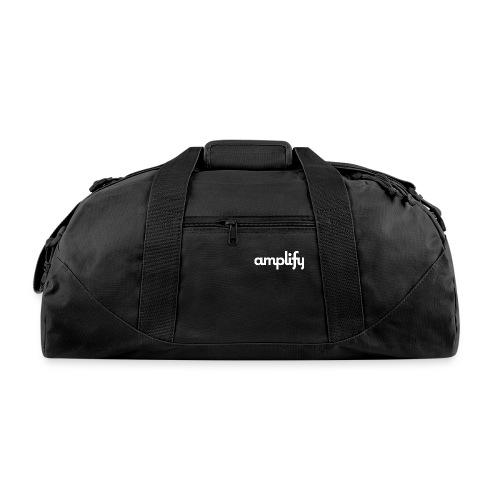 amplify logo// white - Duffel Bag