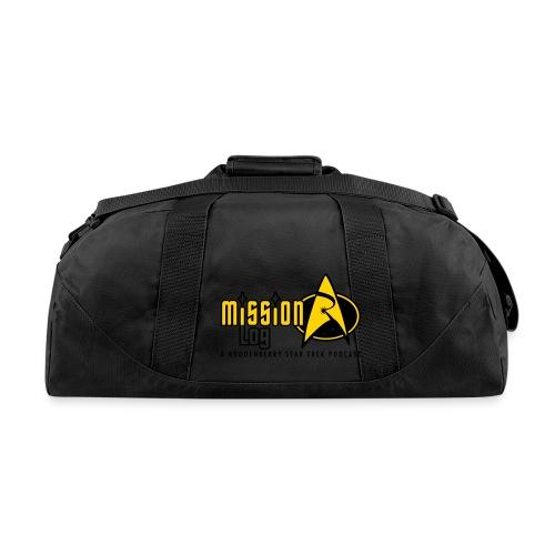 Logo Wide 2 Color Black Text - Duffel Bag