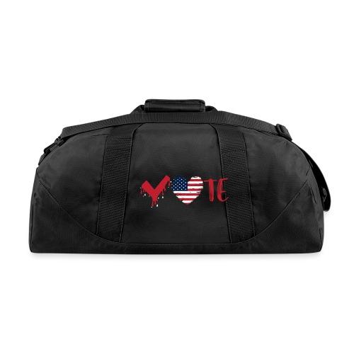 vote heart red - Duffel Bag