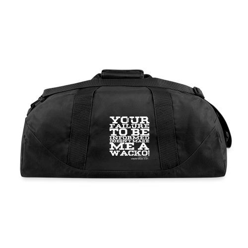 SOS Wacko White Logo - Duffel Bag