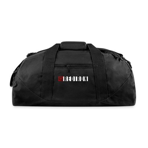 Red Iron Horizontal Dual Logo (White) - Duffel Bag