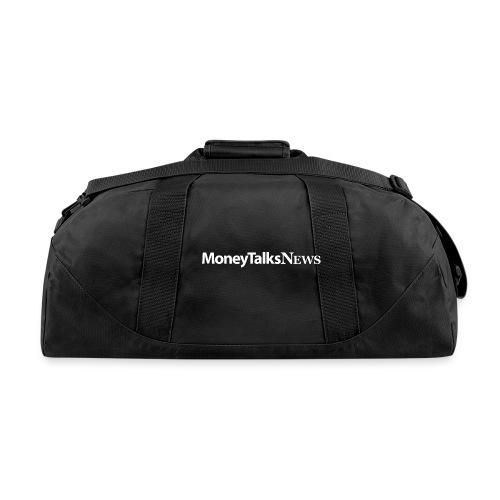 Money Talks News Logo - White - Duffel Bag