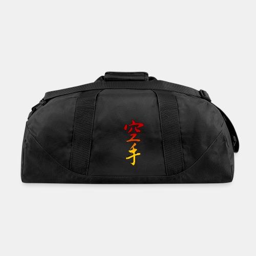 Karate Kanji Red Yellow Gradient - Duffel Bag