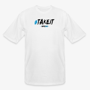 #takeit white - Spizoo Hashtags - Men's Tall T-Shirt