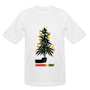 Cannabis On Fire T-shirts - Men's Tall T-Shirt