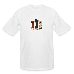 Resist / Racial Justice - Men's Tall T-Shirt