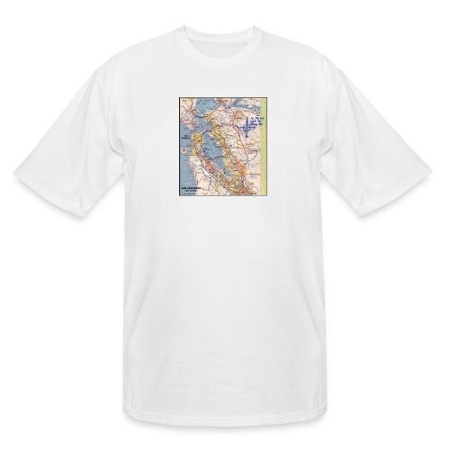 Phillips 66 Zodiac Killer Map June 26 - Men's Tall T-Shirt
