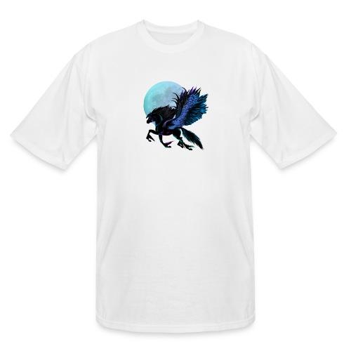 Black Pegasus and Blue Moon - Men's Tall T-Shirt