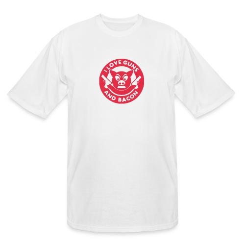 I Love Guns And Bacon - Men's Tall T-Shirt