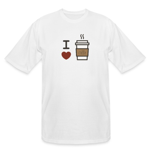 I Love Coffee - Men's Tall T-Shirt
