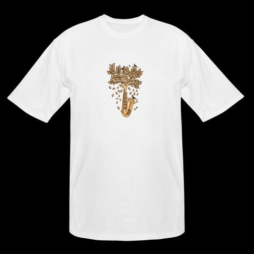 Saxophone Tree of Song Birds - Men's Tall T-Shirt