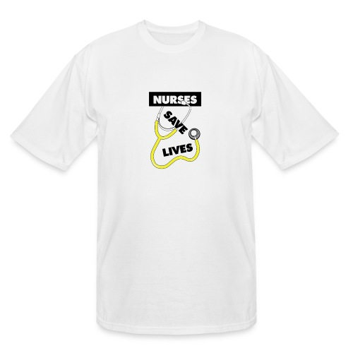 Nurses save lives yellow - Men's Tall T-Shirt