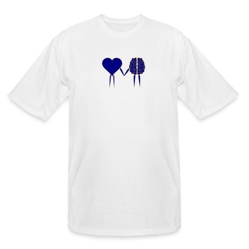 heart and brain - Men's Tall T-Shirt