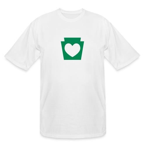 Love/Heart PA Keystone - Men's Tall T-Shirt