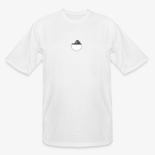 Gray Pocket Buddy - Men's Tall T-Shirt