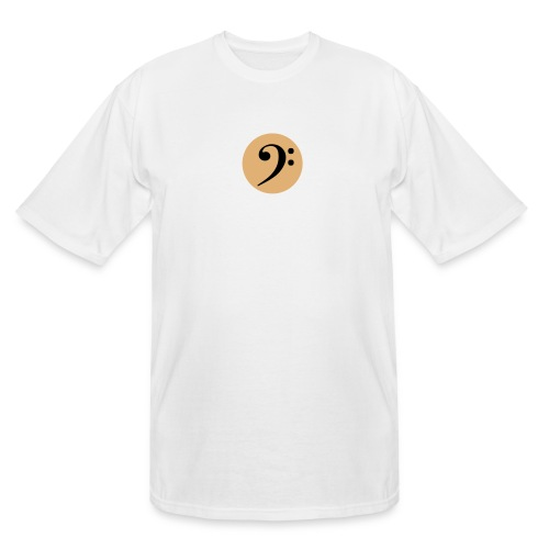 Bass Clef in Circle - Men's Tall T-Shirt