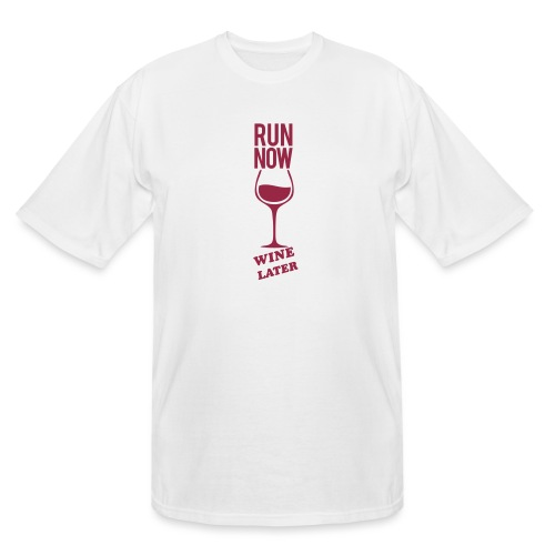 Run Now Gym Motivation - Men's Tall T-Shirt