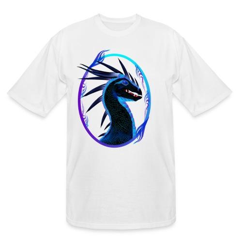 Horned Black Dragon framed - Men's Tall T-Shirt