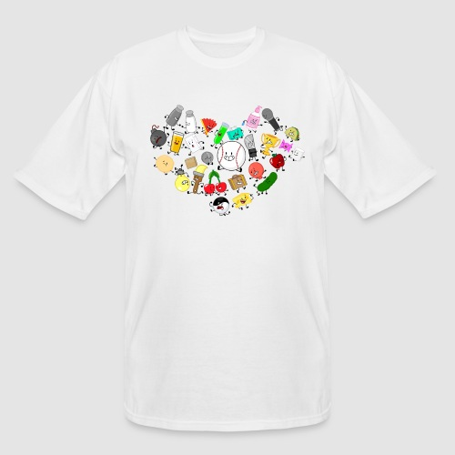 Inanimate Heart Color - Men's Tall T-Shirt